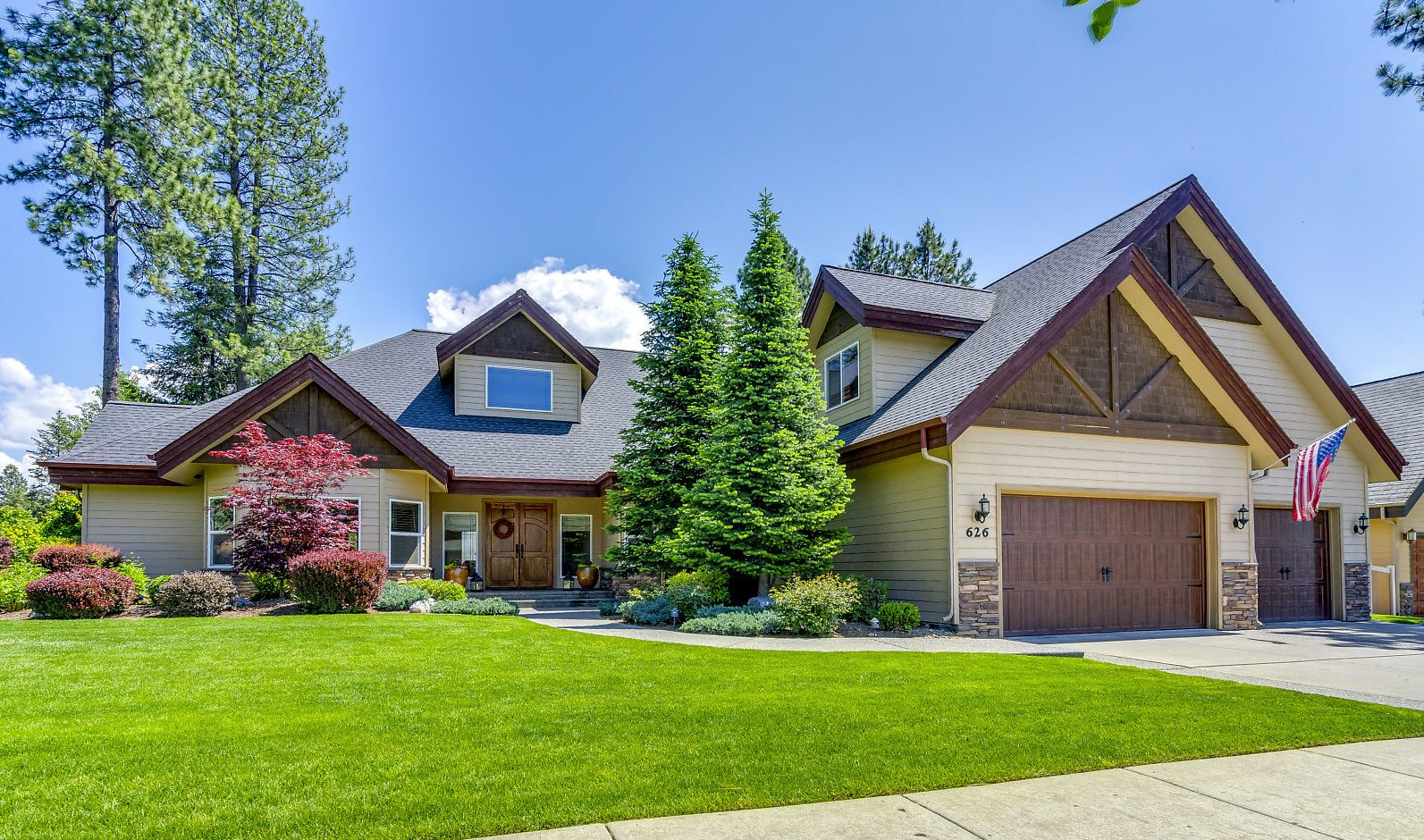 Typical higher end home in Coeur dAlene